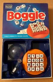 Boggle The 3 Minute Word Game 1994 Parker Games Edition. Complete And VGC.