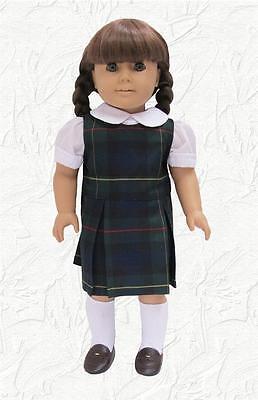 Doll Clothes School Uniform Lands End Fabric Hunter Plaid Fits  American Girl
