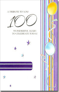 One Hundred Wonderful Years 100th Birthday Card by Freedom Greetings