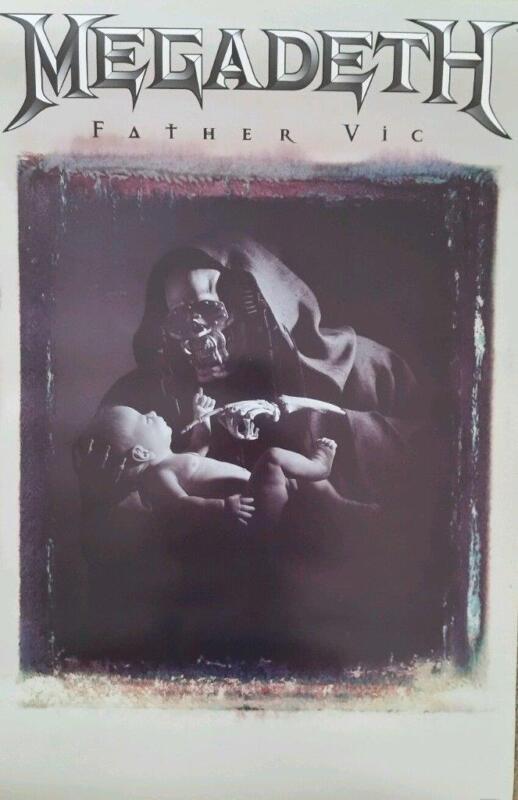 Megadeth Father Vic Original 1996 Poster 23x35