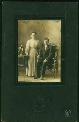 B/W Photo Showing Men and Women's Fashion, c.1890's, J. E. Ethier