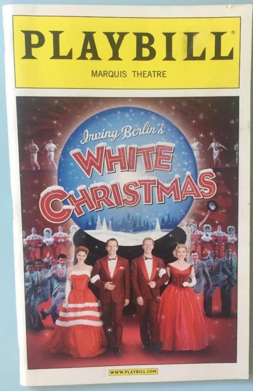 White Christmas Playbill Stephen Bogardus Jeffry Denman  Kerry O'Malley Dec 2008