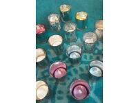 Wedding table decoration glass tea lights with battery candles