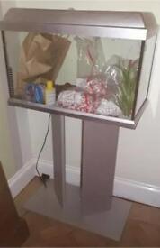 Elite 60L Aquarium Fish Tank with Stand and Filter