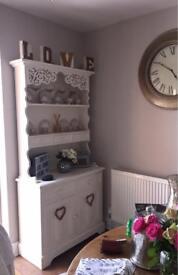 White ornate shabby chic style dresser