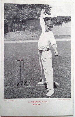 FIELDER ARTHUR  ENGLAND TO AUSTRALIA 1903-04 ASHES CRICKET POSTCARD