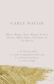 Hair extension specialist - LA weave, Micro Rings, Nano Rings, Mini Tubes, Shrinkies & Fusion Bonds