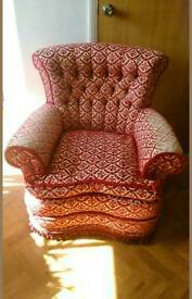 Comfortable armchair made in England