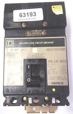 Sq D Fa34015 15a 3p 480v I-line Circuit Breaker