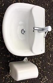 Roca Wall Mounted Wash Hand Basin (sink)