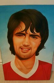 George best canvas picture