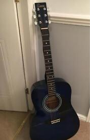 Encore Guitar blue colour