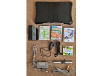 Nintendo Wii (Black), Wii Fit Plus, Balance Board, Motion Plus, extra games