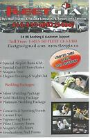 FLEET GTA LIMOUSINE *Airport* **Stretch limousine** **Weddings**