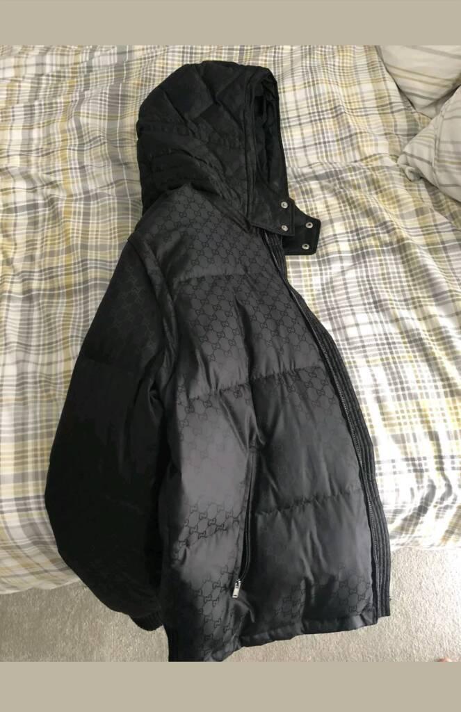 941f74f19 New season genuine Gucci supreme jacquard padded jacket Size M ...
