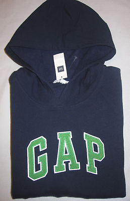 Nwt Womens Gap Stretch Logo Blue Hoodie Sweatshirt  Xxl