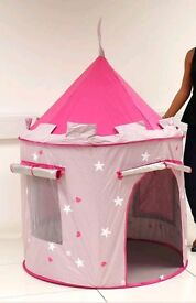 Childrens princess castle pink play tent