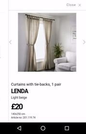 Ikea curtains, 2 pairs