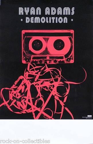Ryan Adams 2002 Demolition Original Concert Promo Poster