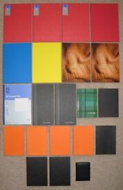 21 ASSORTED HARDBACK NOTEBOOKS NOTEPADS A4 A5 FOR OFFICE SCHOOL HOME - BRAND NEW