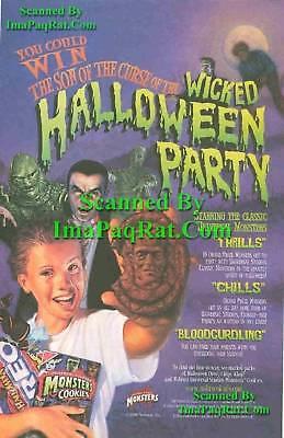 : Wicked Halloween Party: Print Ad! (Halloween Oreo Cookies)