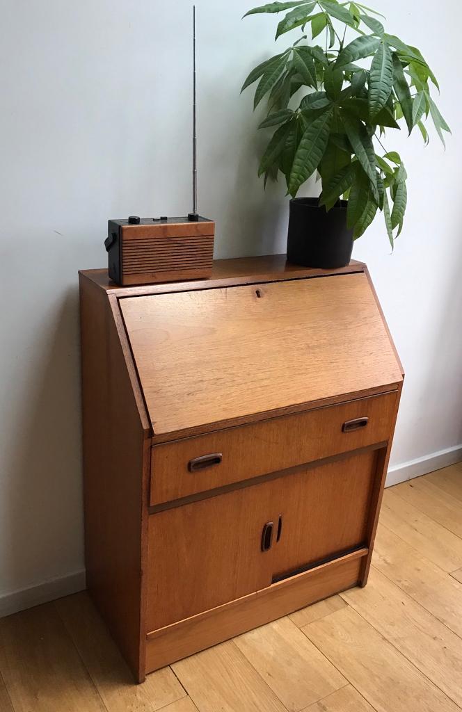 Vintage,Mid Century,Teak writing Bureau