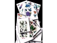 3D Waterproof Body Art Temporary COLORFUL Tattoos