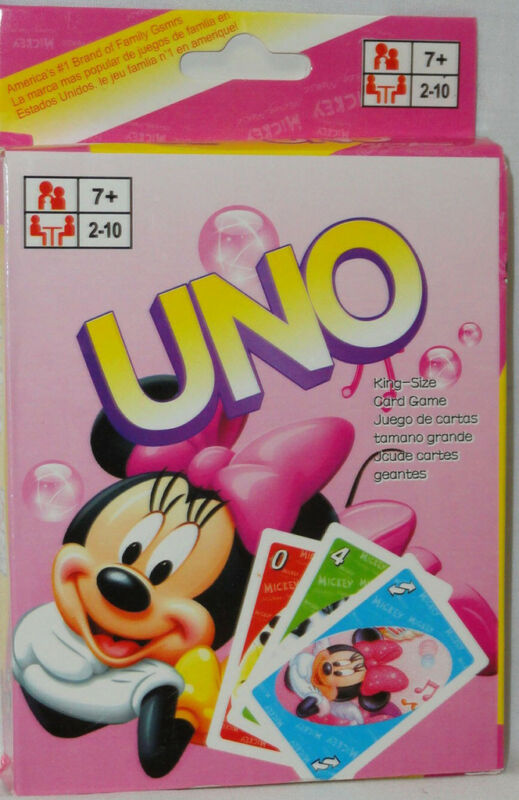 UNO MICKEY MINNIE MOUSE Card Game NEW