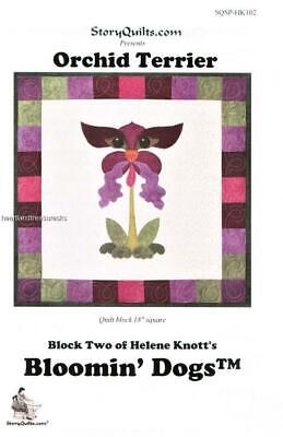 Orchid Terrier  Dog  Applique Sewing ~ Quilt Pattern Block    18