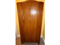 Small wardrobe, ¾-length hanging space + 3 shelves to the right; single door; possibly 1950's