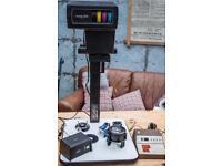 Vintage Vivitar 356 photographic enlarger, Vivitar lens, Bulb. Durst colorneg analyser. Plus extras