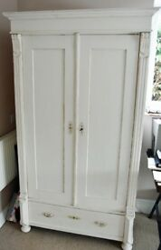 Vintage French painted armoire
