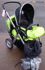 Babystyle Oyster Max Tandem Double in Black & Green