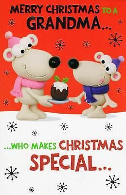 Merry Christmas Grandma Funny Christmas Card Crackers Range Xmas Greeting Cards - Funny Grandma Cards