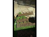 garden willow border fence picket fence