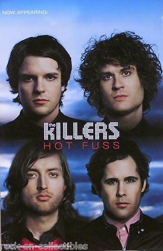 The Killers 2004 Hot Fuss Original Double Sided Perforated Promo Poster