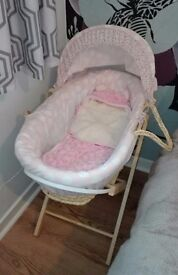 Mama's and papas moses basket with stand