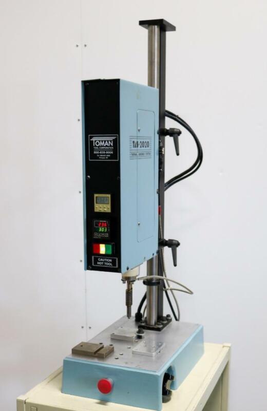 Toman ThermoSonics Model 2020 Pneumatic Heat Staking Press
