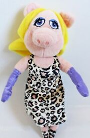 """10"""" Disney Miss Piggy From The Muppets Soft Toy By PoshPaws"""