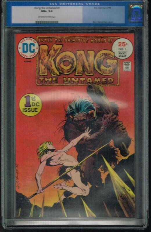 Kong the Untamed # 1 & 2 CGC 9.6 & 9.4 NM, cool cover art by Bernie Wrightson