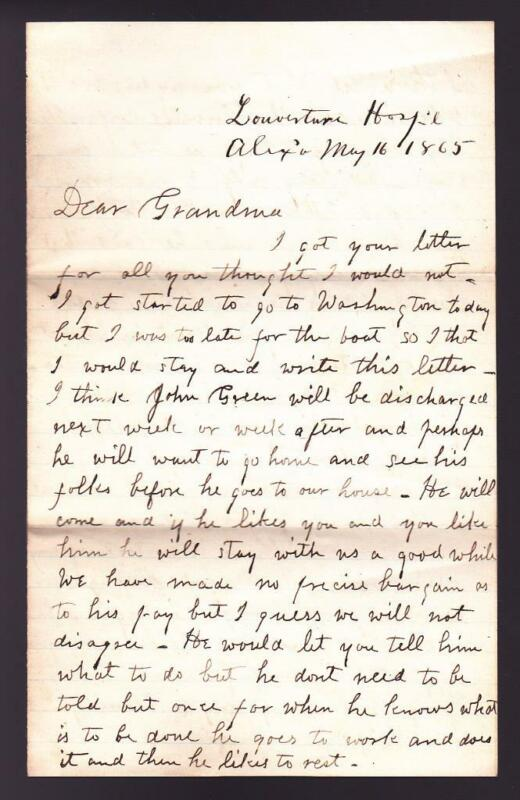 Civil War Private Charles Canfield Signed 1865 Letter Jefferson Davis Content