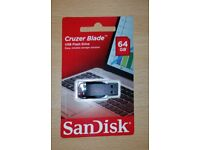 SanDisk Cruzer Blade USB 2.0 Flash Drive - 64GB [UNOPENED]