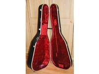acoustic guitar case. Hiscox hardshell plush-lined lockable case.