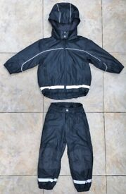 Fantastic Kids 3-4 Years Fleece-Lined H&M Outdoor Waterproof Suit Rain Jacket And Trousers