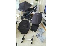 Bugaboo donkey duo LIKE NEW limited edition all black v1.1