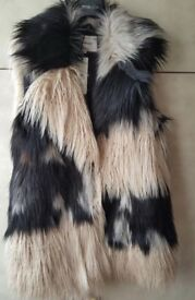 BRAND NEW TAGGED Size 14 River Island Faux Fur Gilet RRP £70
