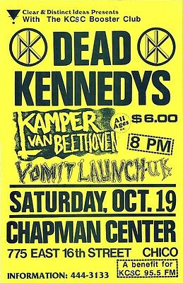 "3.25"" Vintage 1980's DEAD KENNEDYS  Punk Rock Flyer STICKER. Jello Biafra."