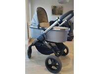 2016 Icandy peach in olive. Excellent condition. Includes carrycot, seat unit, footmuff & elevators
