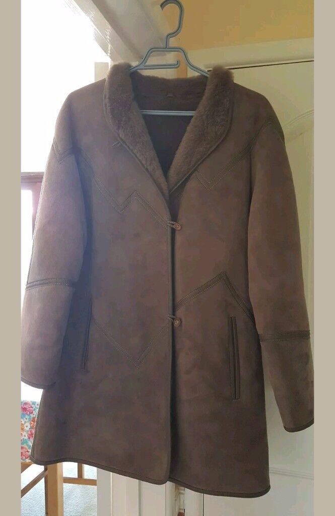 Genuine vintage sheepskin ladies coat.
