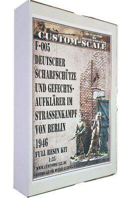 CustomScale 1:35 German Sniper Street Fight 1946 Resin Figure Kit #F002